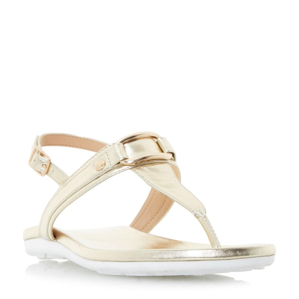 リネアペレ レディース シューズ・靴 サンダル・ミュール【Lanica Sporty Toe Thong Sandal】gold metallic