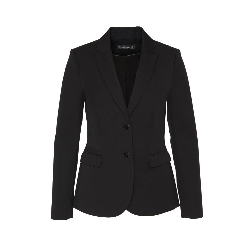 ハルフーバー レディース アウター スーツ・ジャケット【Business Blazer With Flap Pockets】black