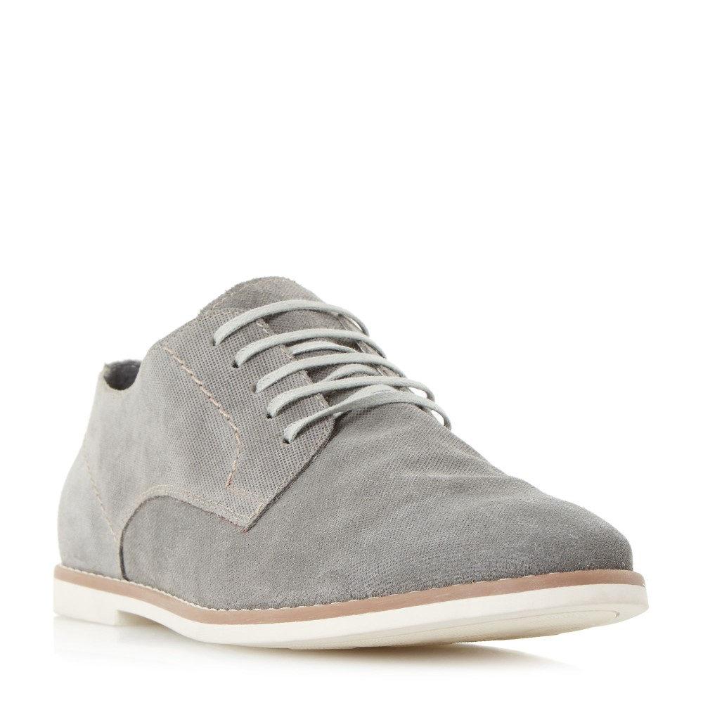 バーティ メンズ シューズ・靴 革靴・ビジネスシューズ【Basil Printed Suede Lace Up Gibson Shoes】grey
