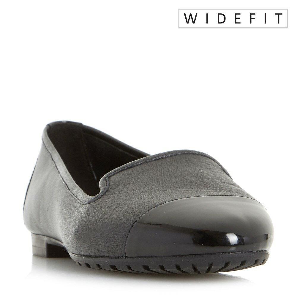デューン レディース シューズ・靴 スニーカー【Geneveve Wide Fit Toecap Slipper Cut Shoe】black