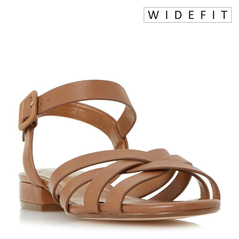 デューン レディース シューズ・靴 サンダル・ミュール【Insley Wide Fit Woven Strap Low Block Sandals】tan