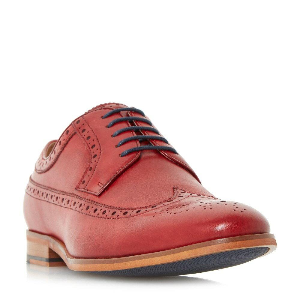 【2013新作】 デューン メンズ シューズ・靴 革靴・ビジネスシューズ【Prague Piped Edge Brogue Shoes】red