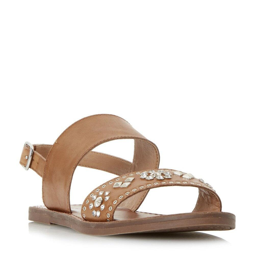 デューン レディース シューズ・靴 サンダル・ミュール【Luma Diamante Flat Sandal】tan