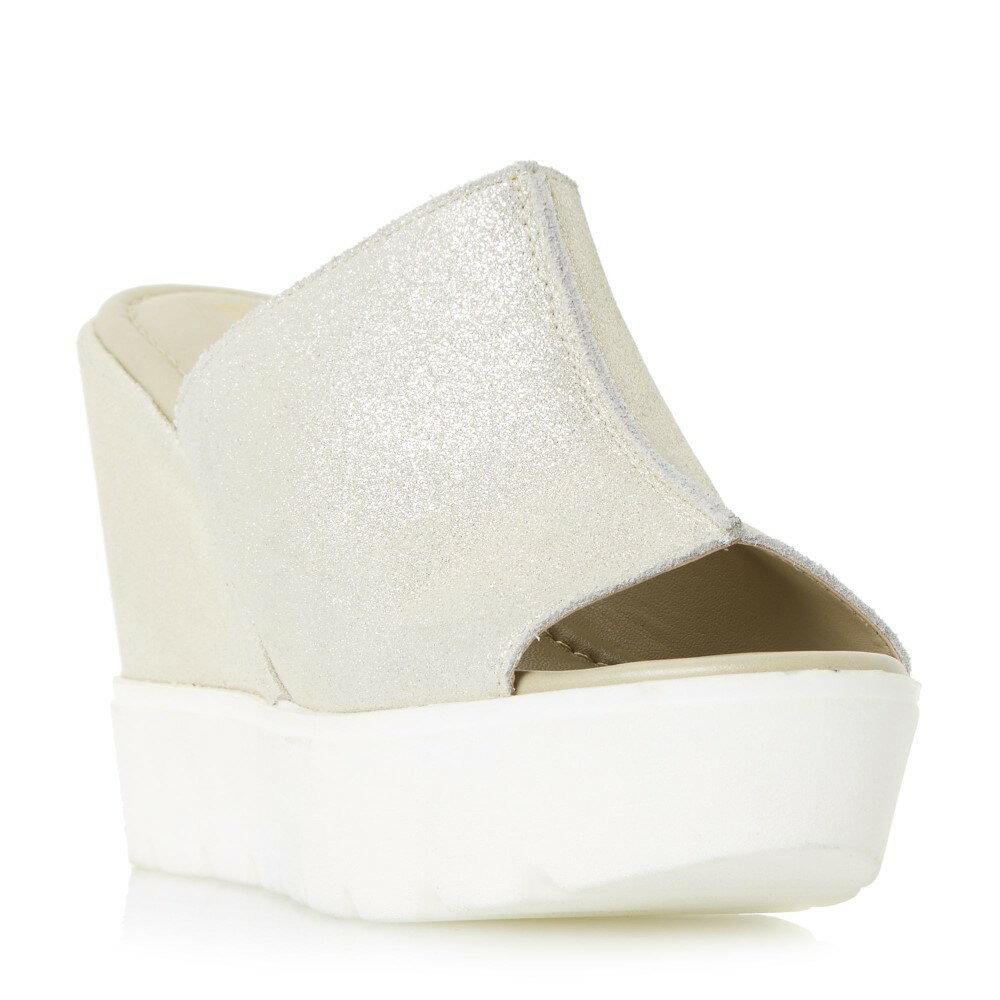 デューン レディース シューズ・靴 サンダル・ミュール【Kammi High Mule Wedge Sandals】gold