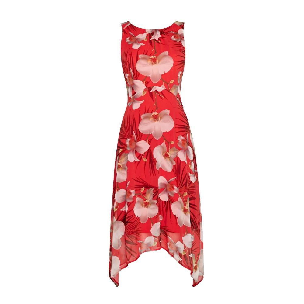 ウォリス レディース ワンピース・ドレス ワンピース【Petite Coral Floral Dip Hem Dress】coral