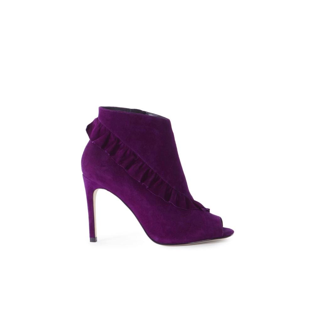 カレンミレン レディース シューズ・靴 ブーツ【Suede Frill Shoe Boots】purple