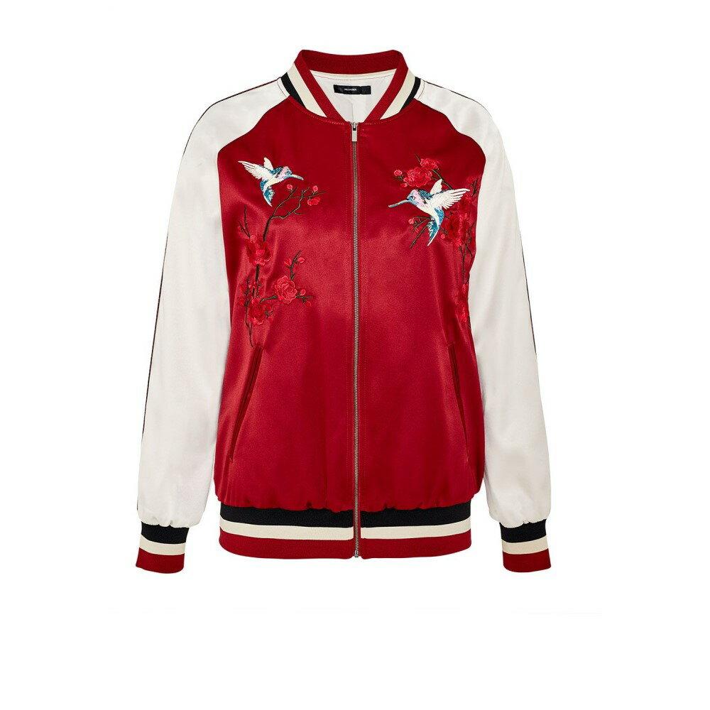 ハルフーバー レディース アウター ブルゾン【Embroidered Satin Bomber Jacket】multi-coloured