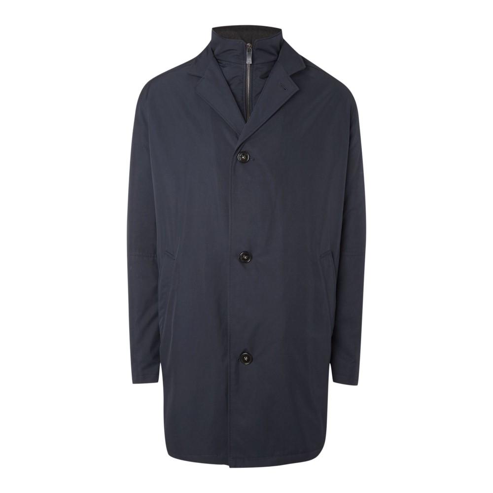 ブガッティ メンズ アウター コート【Long Wool Coat】navy