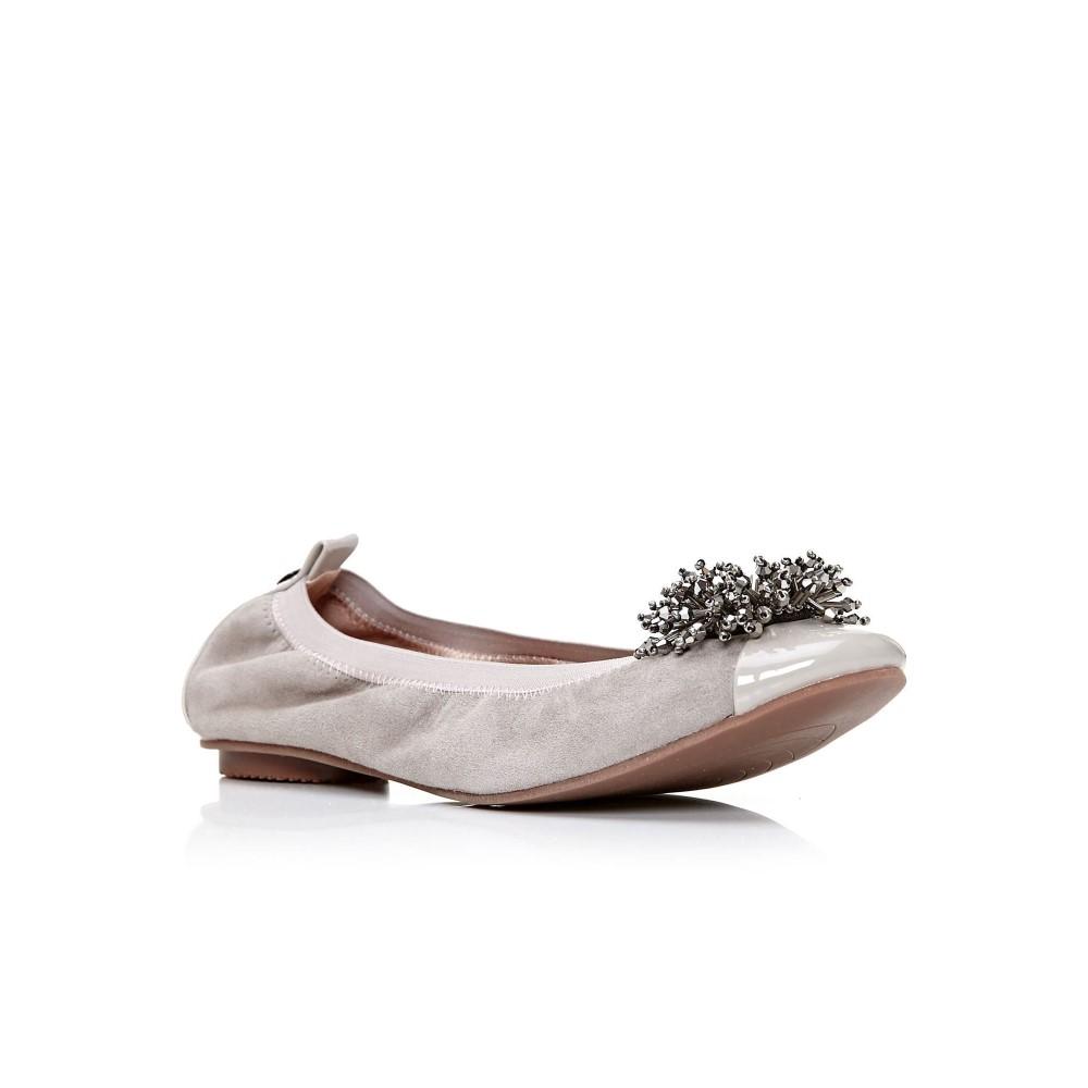 モーダインペレ レディース シューズ・靴 ローファー・オックスフォード【Falvo Ballerina Shoes】light grey