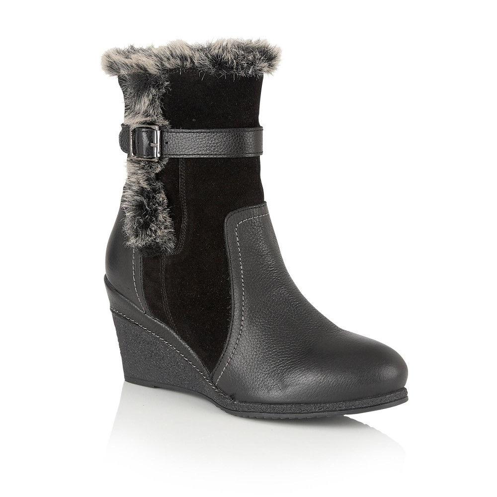 ロータス レディース シューズ・靴 ブーツ【Varda Leather Calf Boots】black
