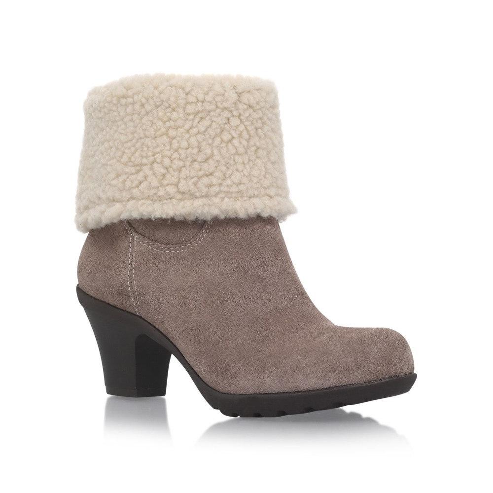 アン クライン レディース シューズ・靴 ブーツ【Heward High Heel Calf Boots】taupe