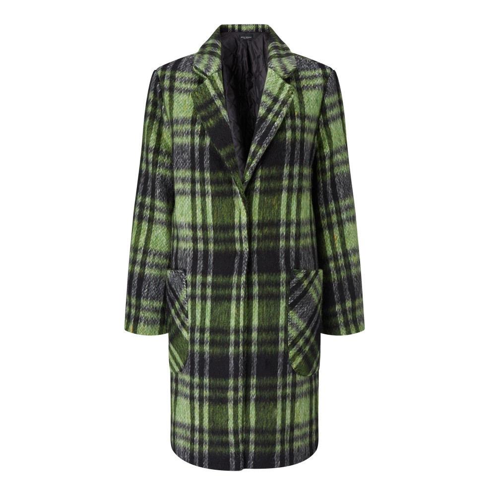 ジュームズ レイクランド レディース アウター コート【Check Wool Mix Coat】green