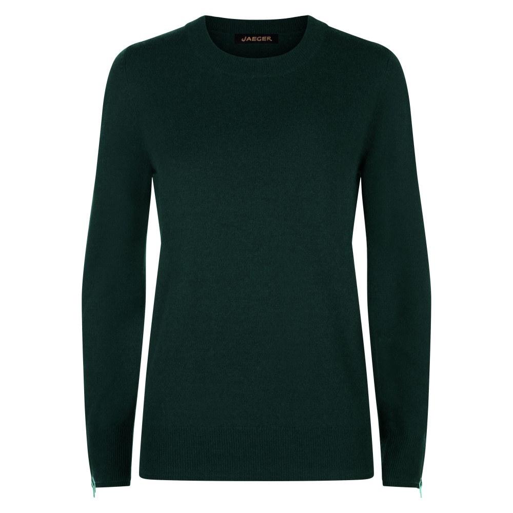 イエ-ガ- レディース トップス ニット・セーター【Wool Cashmere Zip-cuff Sweater】green