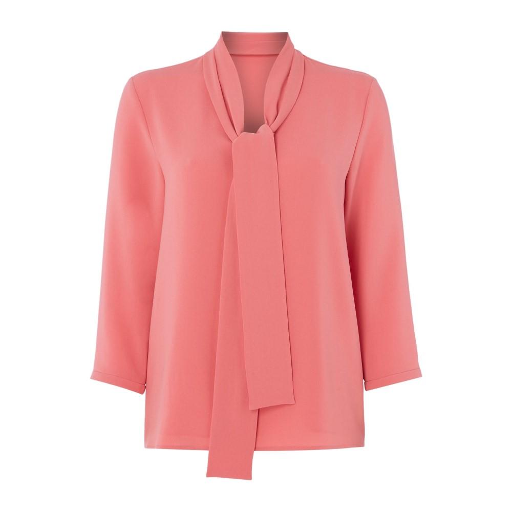 ヒューゴ ボス レディース トップス ブラウス・シャツ【Lasena Tie Neck Blouse】pink