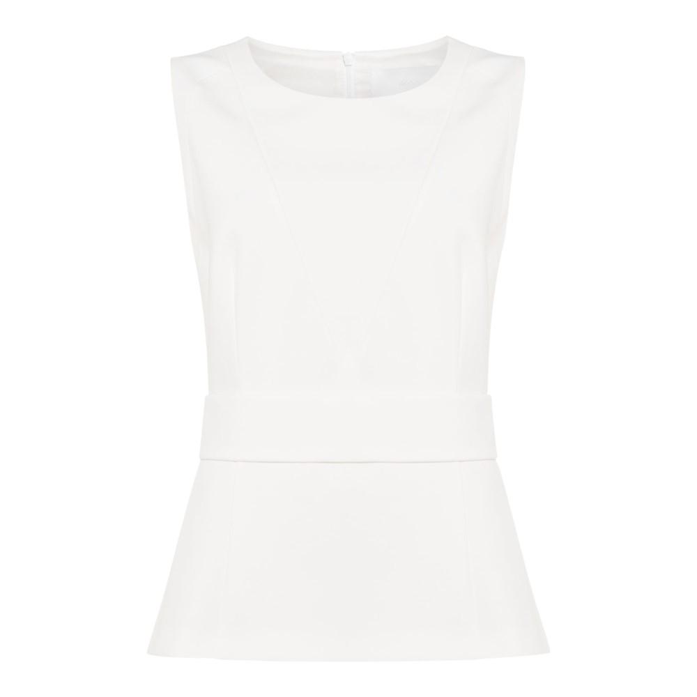 ヒューゴ ボス レディース トップス ブラウス・シャツ【Inesana Textured Sleeveless Top】white