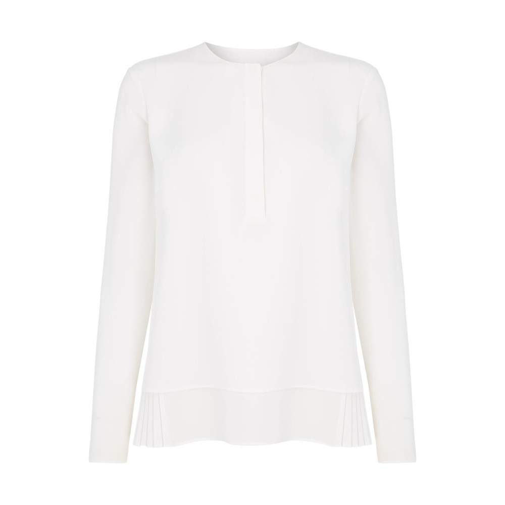 ヒューゴ ボス レディース トップス ブラウス・シャツ【Bialea Pleated Blouse】white