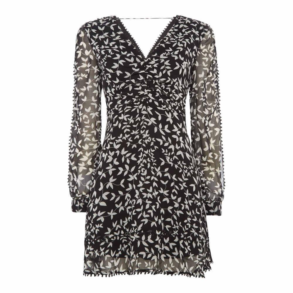キープセイク レディース ワンピース・ドレス ボディコンドレス【Long Sleeve V Neck Mini Dress】multi-coloured