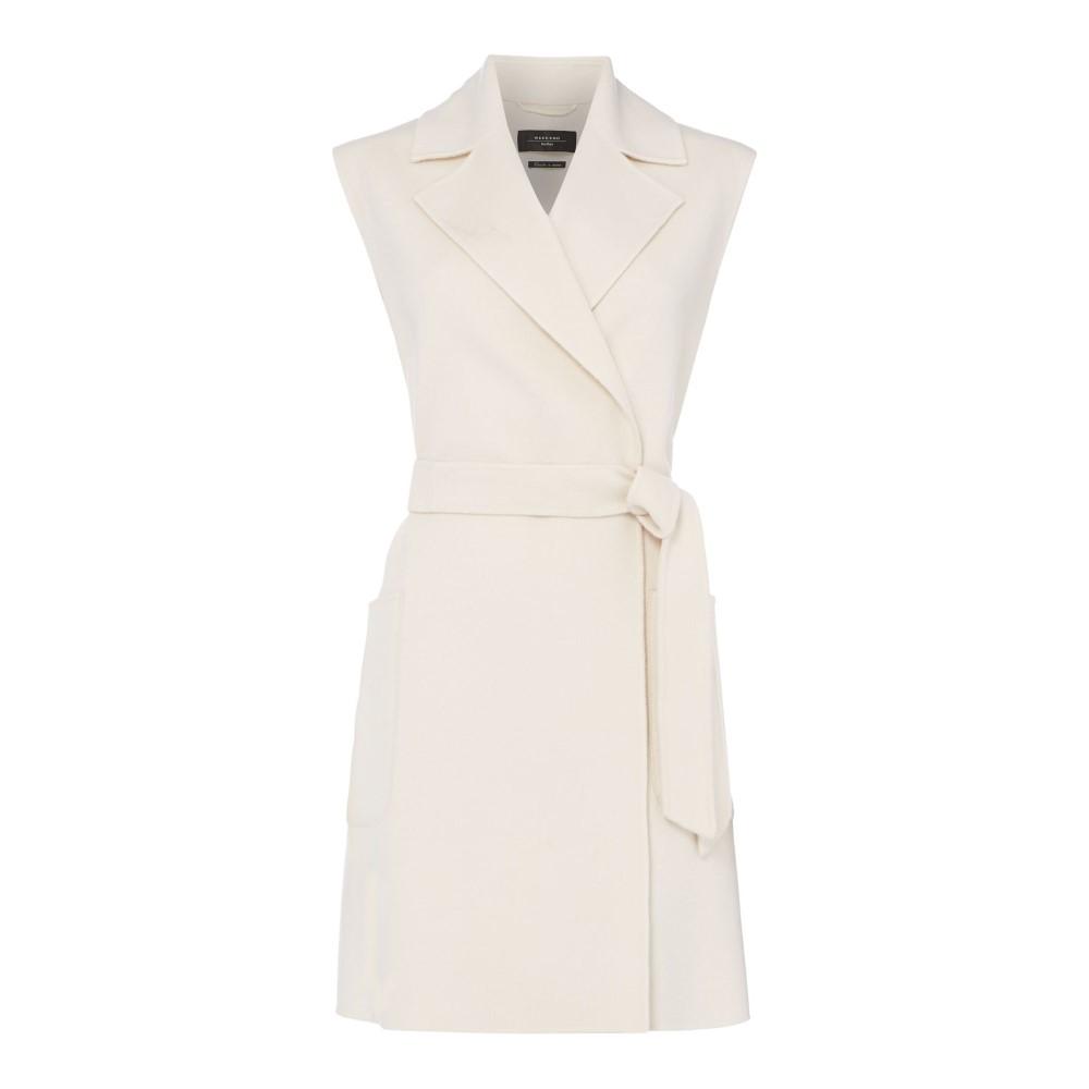 マックスマーラ レディース アウター コート【Bondeno Sleeveless Coat With Belt】white