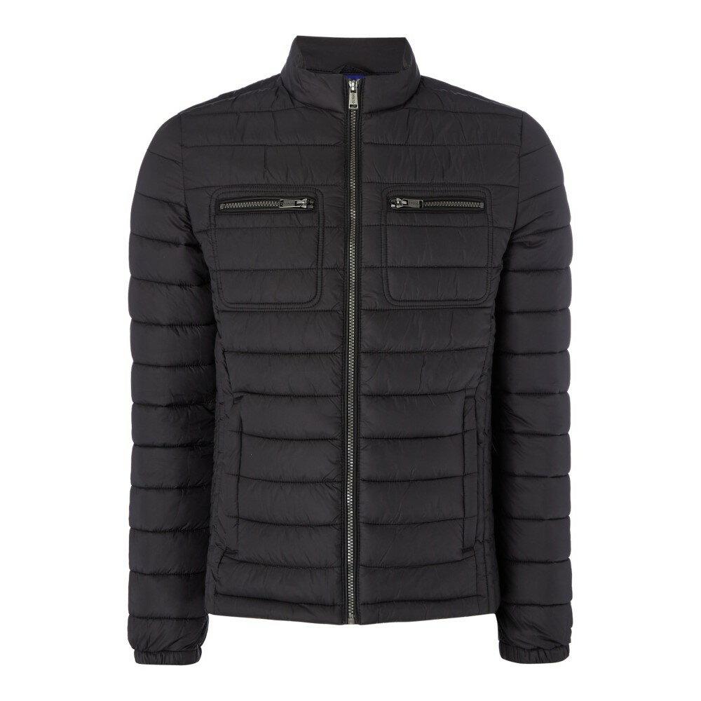 ゲス メンズ アウター ジャケット【Padded Jacket With Pocket Detail】black