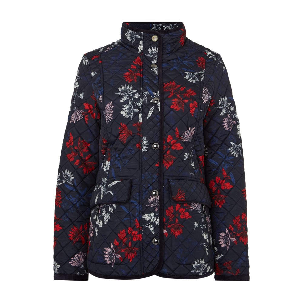ジュールズ レディース アウター ジャケット【Long Sleeves Quilted Coat】marine