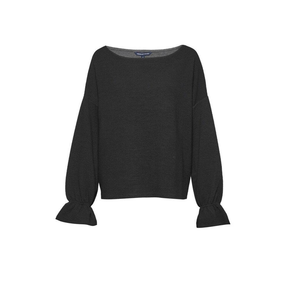 フレンチコネクション レディース トップス ニット・セーター【Ellen Fluted Sleeve Textured Jumper】black