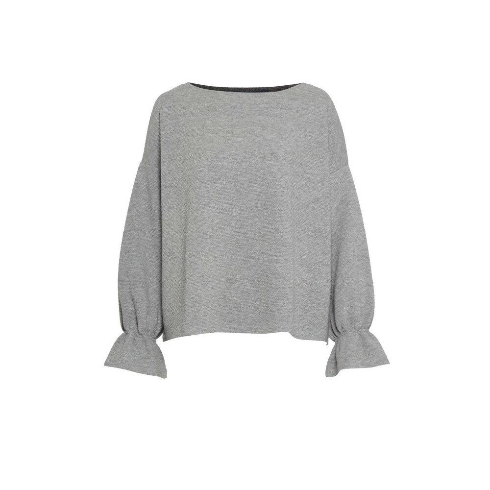 フレンチコネクション レディース トップス ニット・セーター【Ellen Fluted Sleeve Textured Jumper】grey