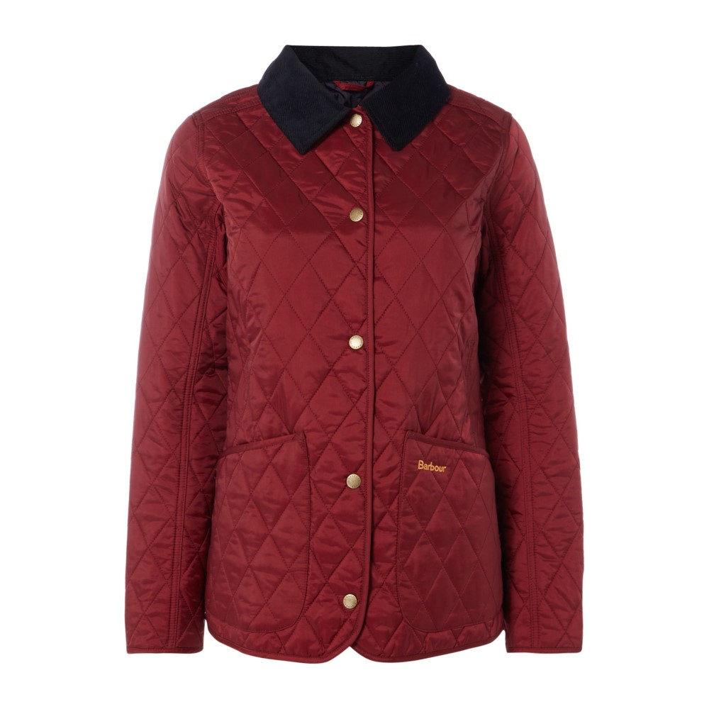 バーブァー レディース アウター ジャケット【Exclusive Annandale Quilt Jacket】wine