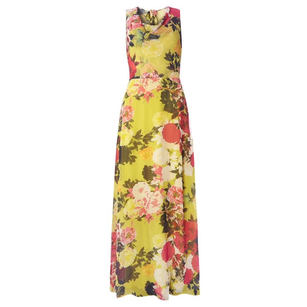 ドロシー パーキンス レディース ワンピース・ドレス ワンピース【Tall Floral Maxi Dress】lime