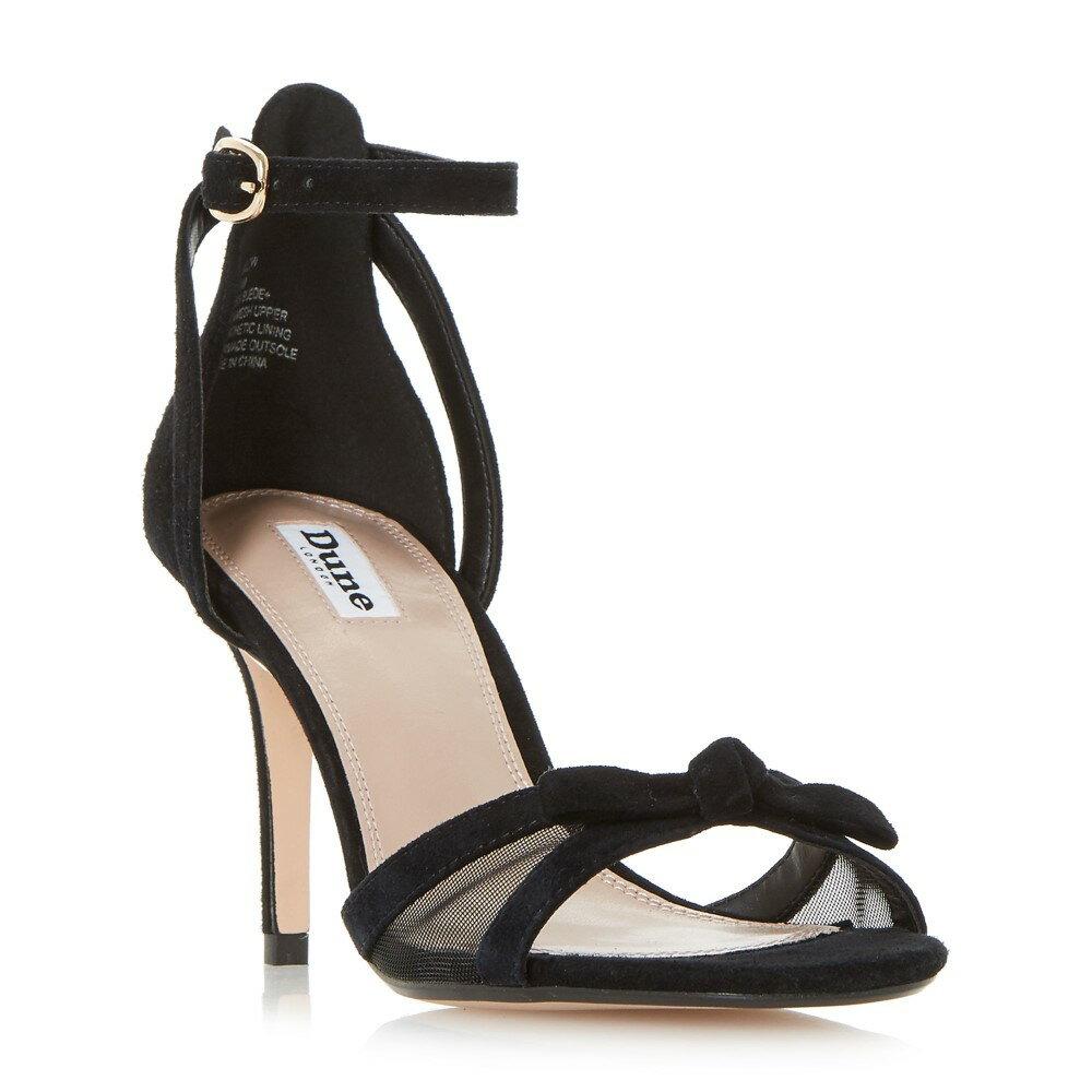 デューン レディース シューズ・靴 サンダル・ミュール【Mallow Bow Trim Mesh Insert Sandals】black