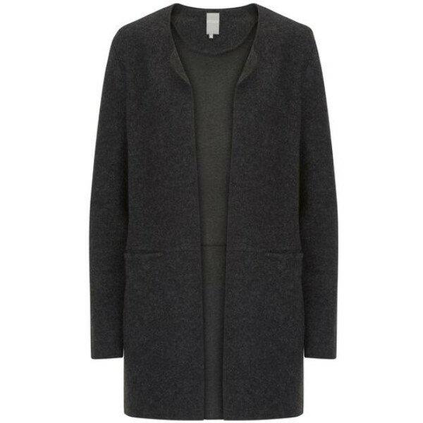 ベティー レディース トップス カーディガン【Boiled Wool Cardigan】black
