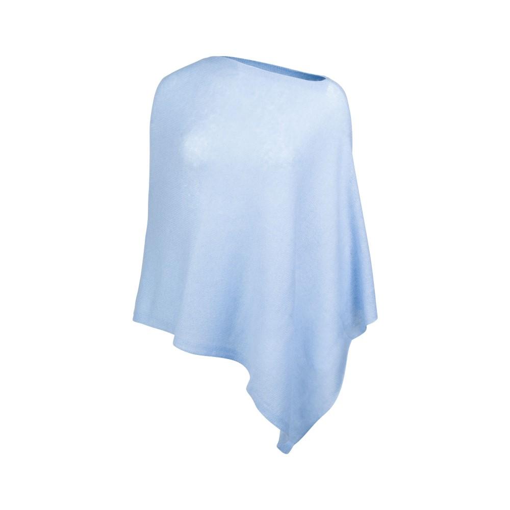 カシミア ブリット レディース アウター ポンチョ【Mini Poncho】blue