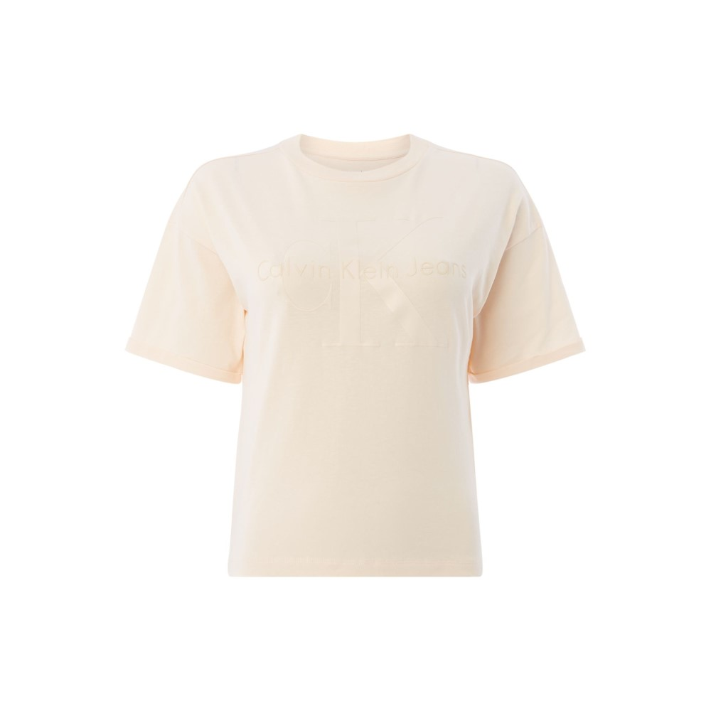 カルバンクライン レディース トップス Tシャツ【Short Sleeves Ck Logo T Shirt】yellow