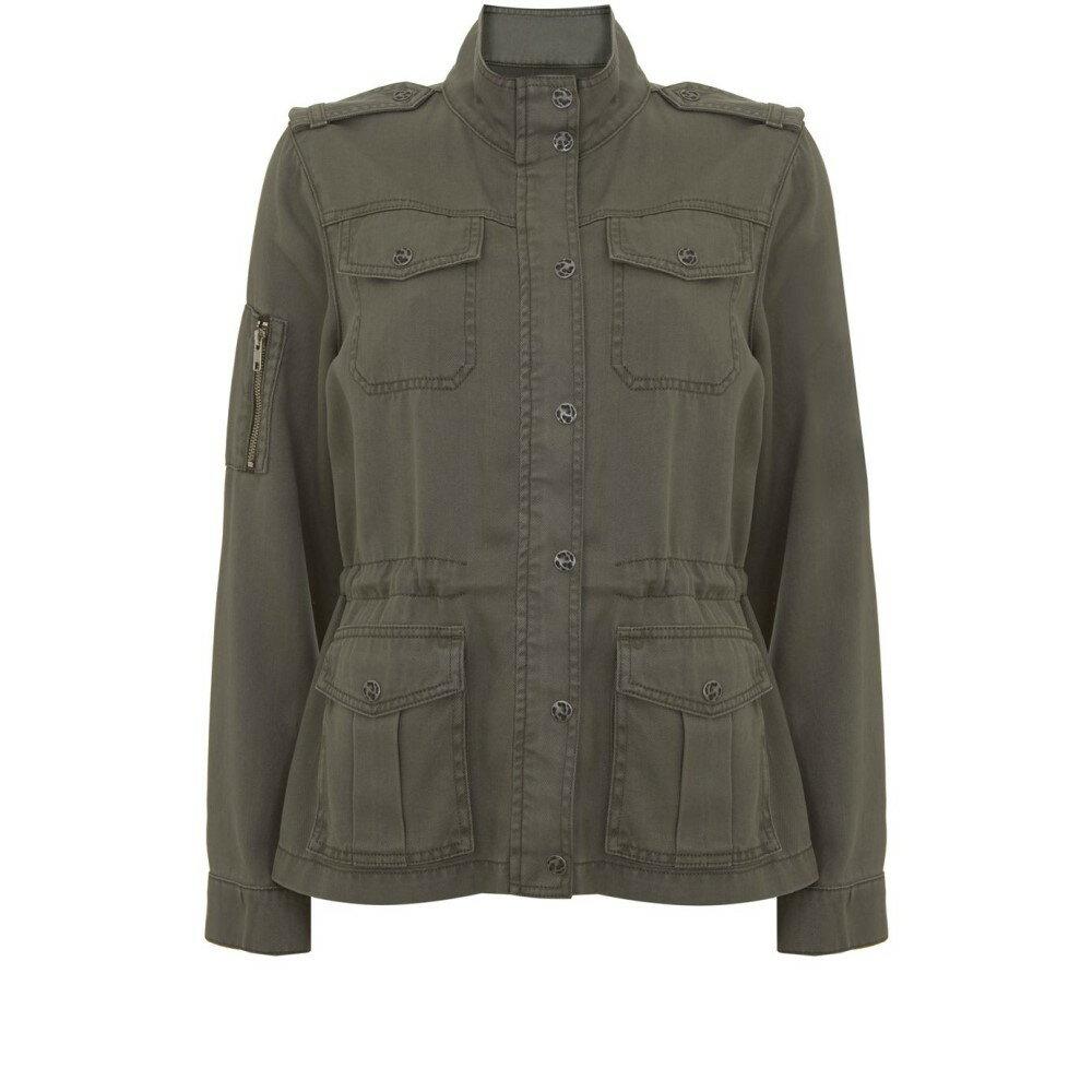 ミルトン ベルベット レディース アウター ジャケット【Khaki Pocket Detail Jacket】dark green