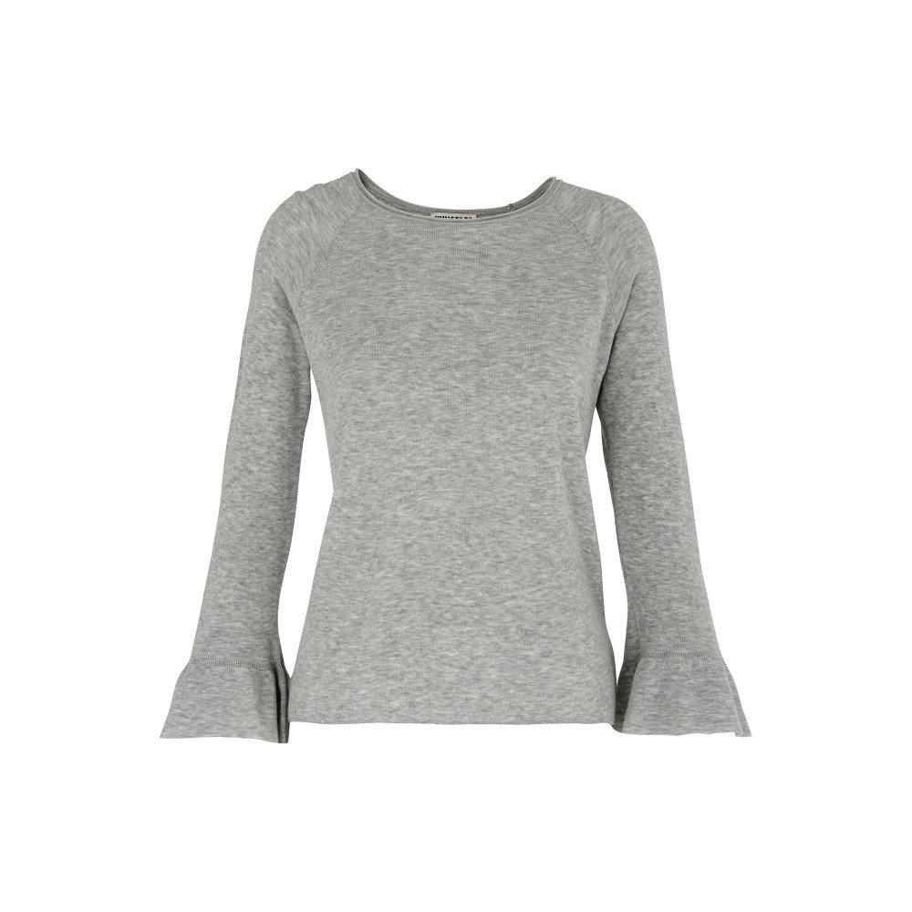 ホイッスルズ レディース トップス ニット・セーター【Frill Wide Sleeve Knit】grey