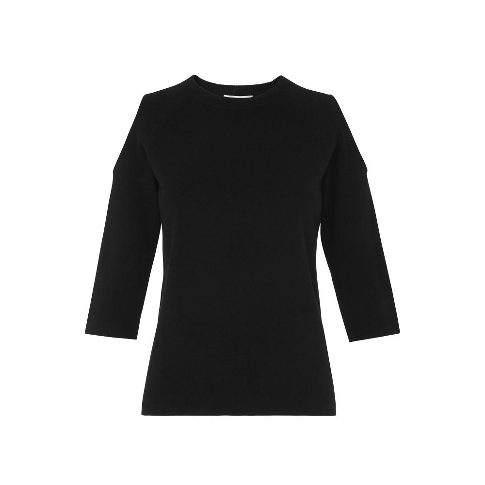 ホイッスルズ レディース トップス ニット・セーター【Cold Shoulder 3/4 Sleeve Knit】navy