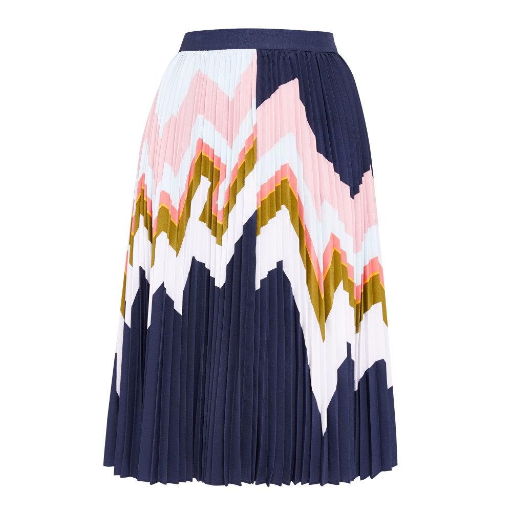 テッドベーカー レディース スカート【Evianna Mississippi Pleated Skirt】navy
