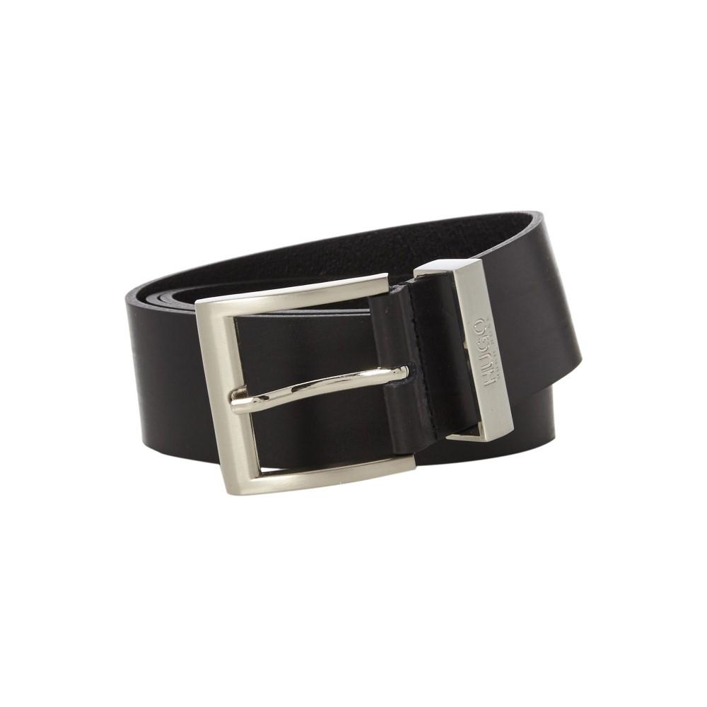 ヒューゴ ボス メンズ ベルト【High Shine Leather Belt】black