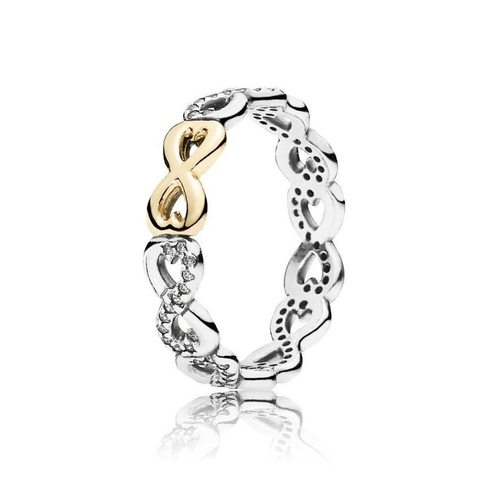 パンドラ レディース ジュエリー・アクセサリー 指輪・リング【Two Tone Infinity Ring】silver