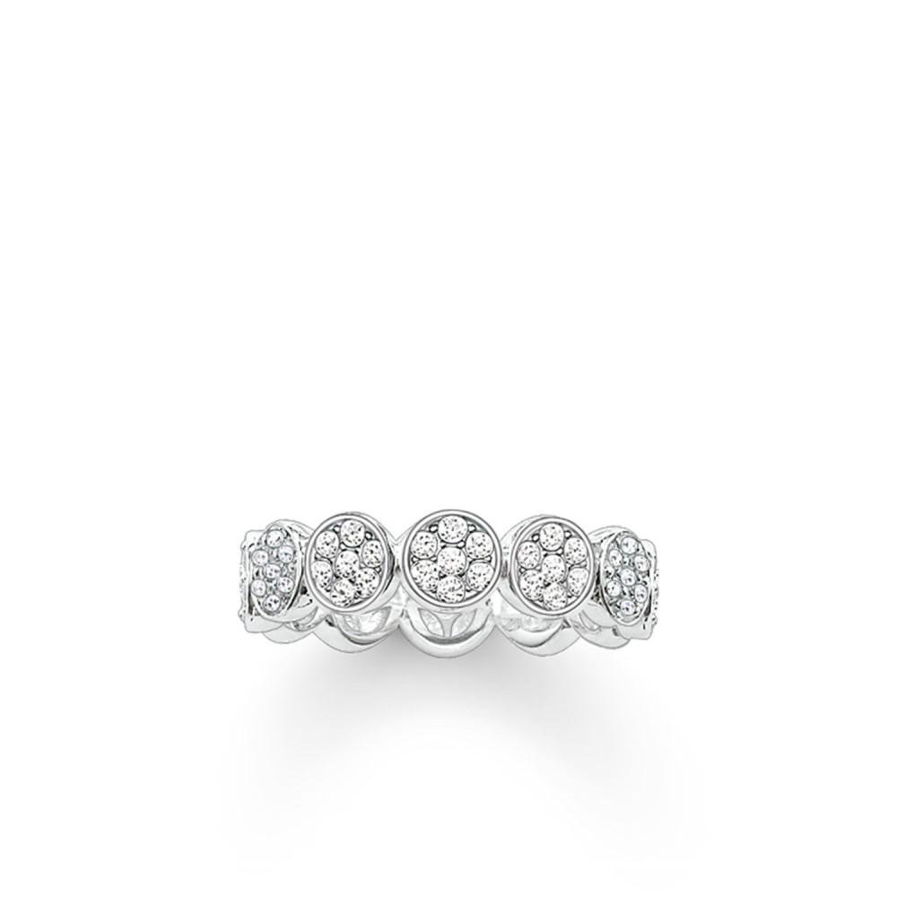 トーマスサボ レディース ジュエリー・アクセサリー 指輪・リング【Sparkling Circles Round Pave Set Ring】white