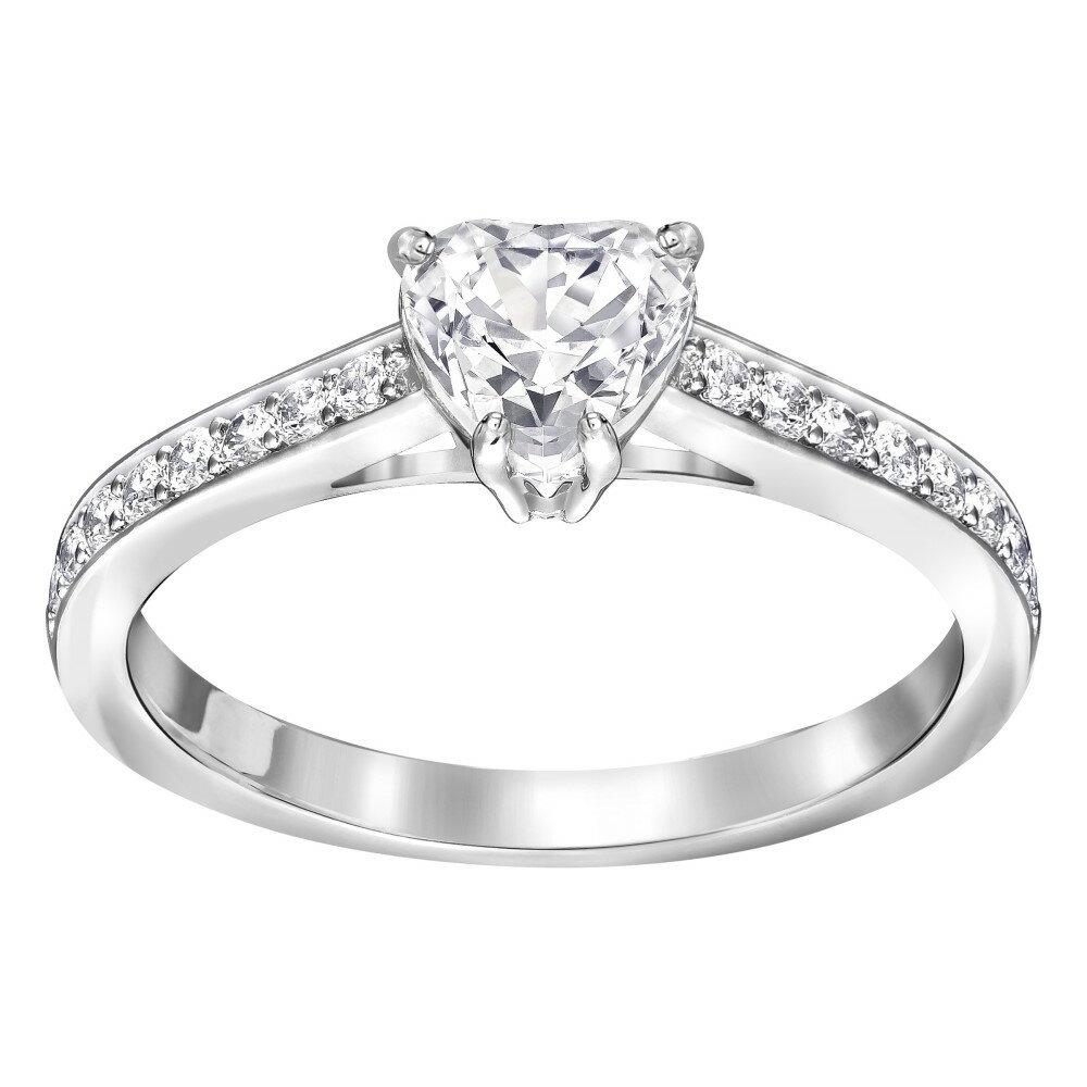 スワロフスキー レディース ジュエリー・アクセサリー 指輪・リング【Attract Heart Ring】silver