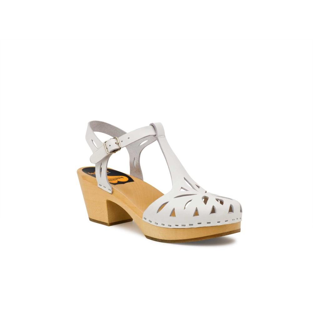 スウェディッシュ ハズビーンズ レディース シューズ・靴 サンダル・ミュール【Lacy Sandal Sandals】white