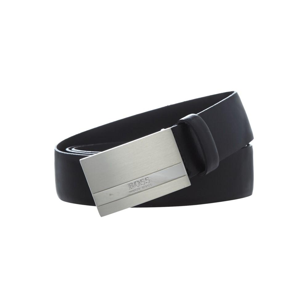 ヒューゴ ボス メンズ ベルト【Baxton Smooth Leather Belt】black