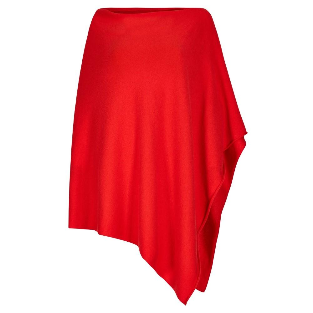 ウィンザー ロンドン レディース アウター ポンチョ【Cashmere Blend Poncho】red