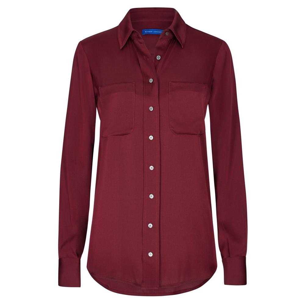 ウィンザー ロンドン レディース トップス ブラウス・シャツ【Silk Shirt】red