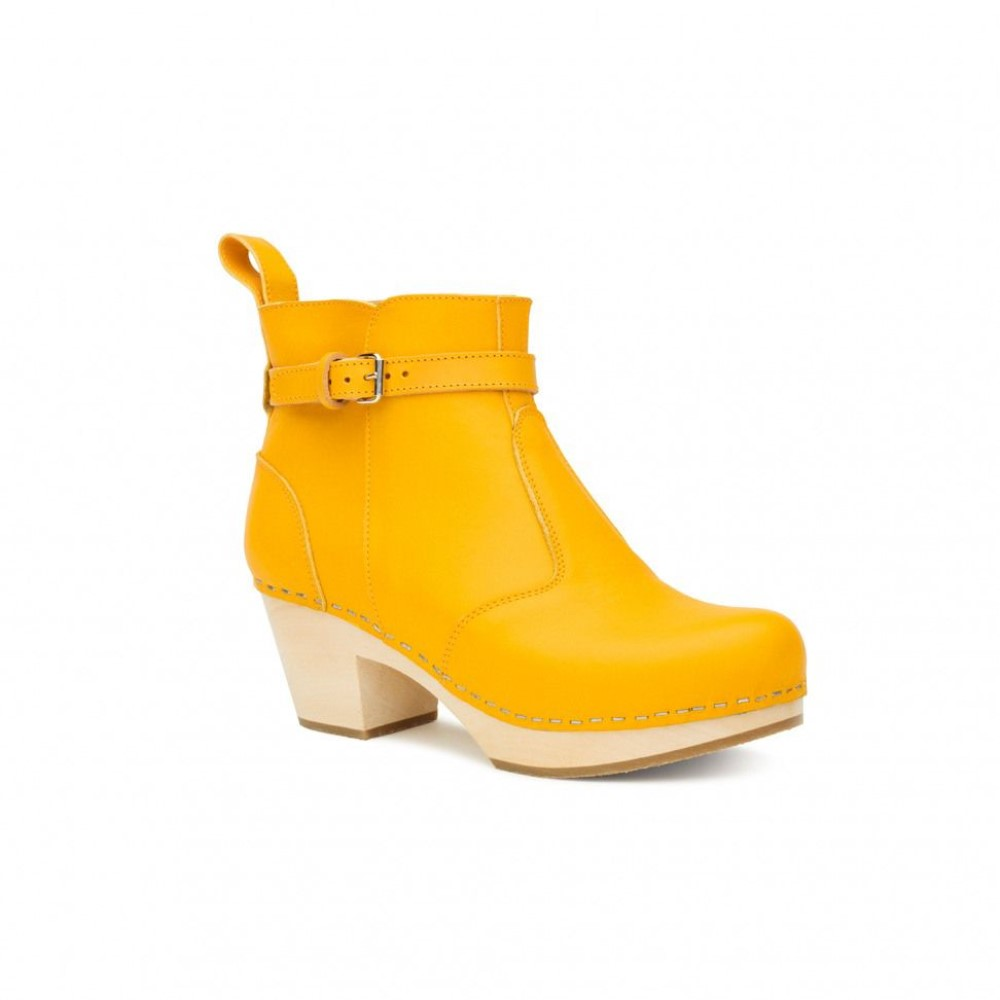 スウェディッシュ ハズビーンズ レディース シューズ・靴 ブーツ【Jodhpur Boots】yellow