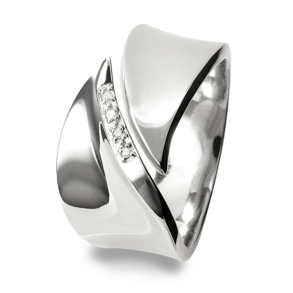 ホットダイアモンズ レディース ジュエリー・アクセサリー 指輪・リング【Pave Leaf Silver Ring】silver