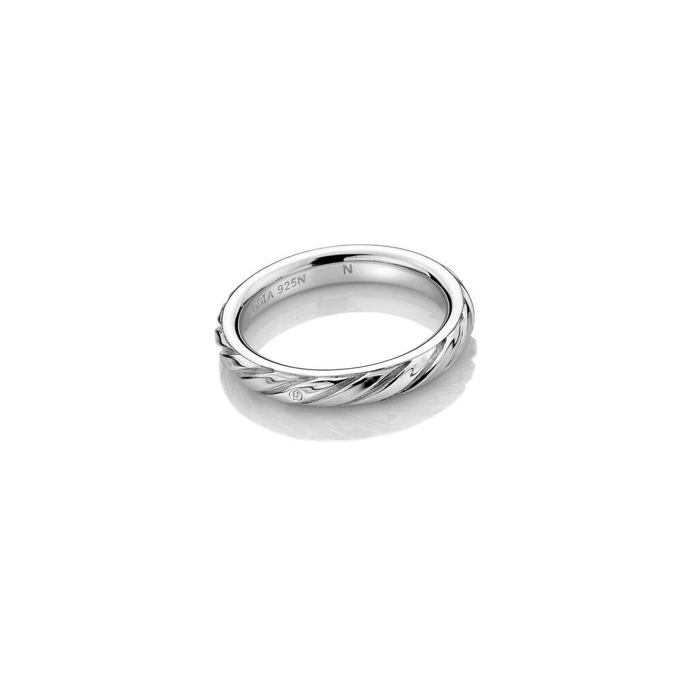 ホットダイアモンズ レディース ジュエリー・アクセサリー 指輪・リング【Silver Twist Ring】silver