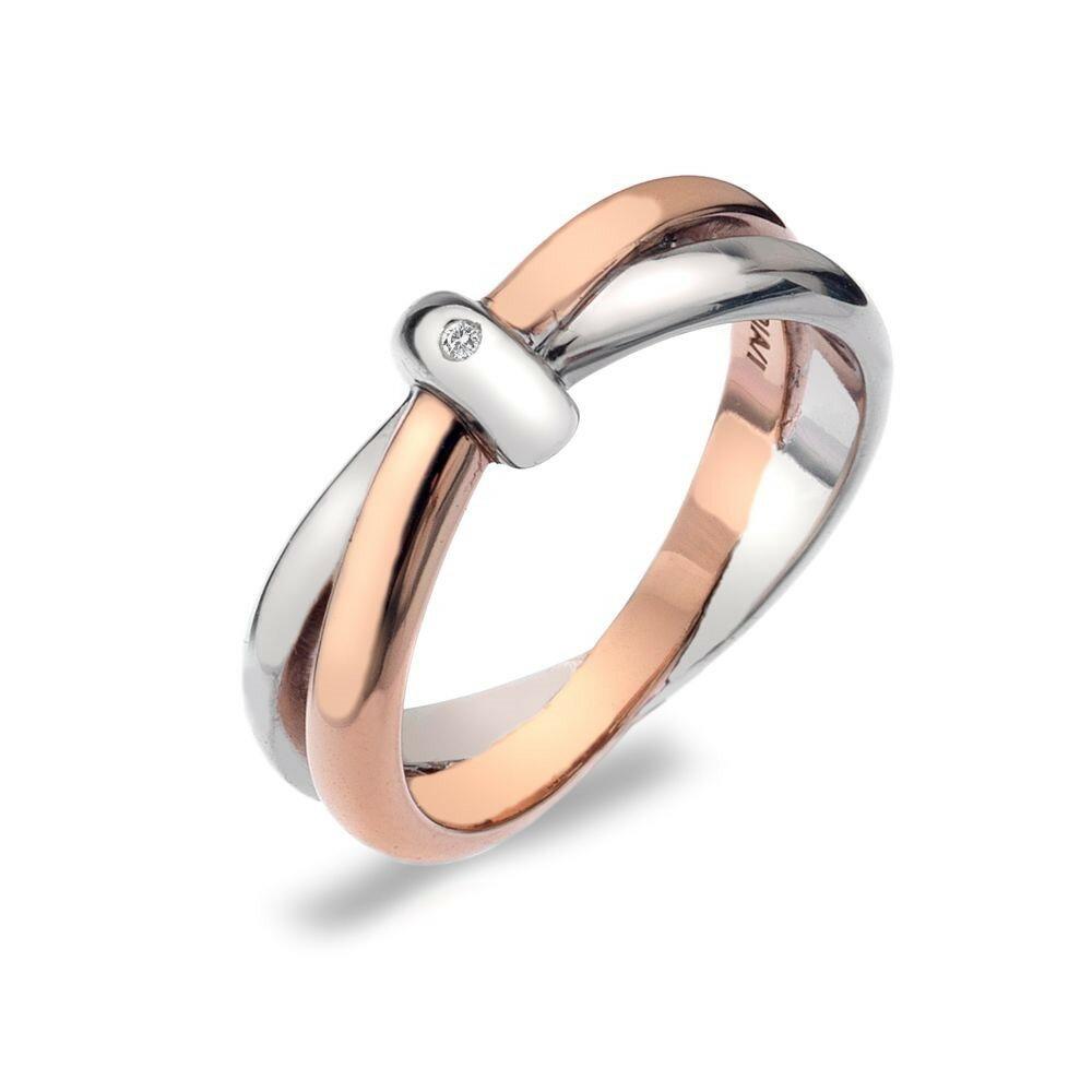ホットダイアモンズ レディース ジュエリー・アクセサリー 指輪・リング【Eternity Interlocking Ring】silver