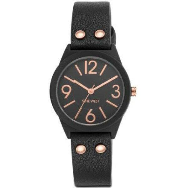 ナインウェスト レディース 腕時計【Black And Rose Gold Watch】black