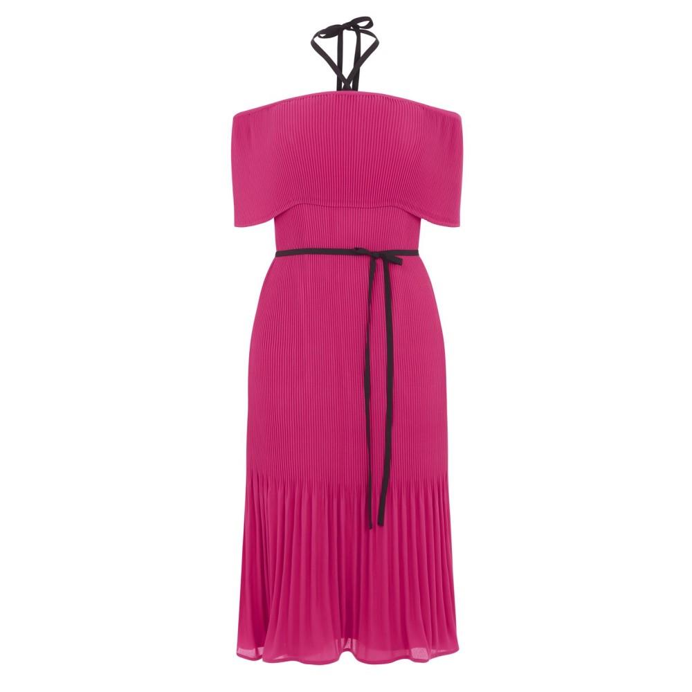 ウェアハウス レディース ワンピース・ドレス ワンピース【Off Shoulder Tie Neck Dress】hot pink